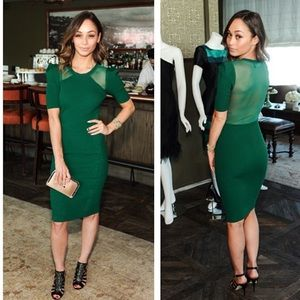 Green Holiday Party Dress
